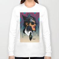 karl lagerfeld Long Sleeve T-shirts featuring wolvereen  vs Karl Lagerfeld  by el brujo