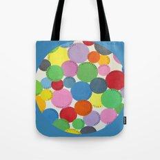 Word Bubbles Blue Tote Bag