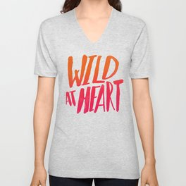 Wild At Heart x Typography Flame Ombre Unisex V-Neck