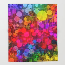 Rainbow Bubbles Abstract Design Throw Blanket