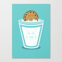 hot Canvas Prints featuring Hot Tub Cookie by Teo Zirinis
