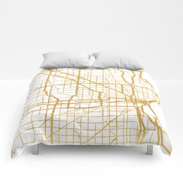 MILWAUKEE WISCONSIN CITY STREET MAP ART Comforters