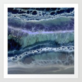 Deep Water Texture Art Print