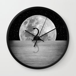 Nessie Starry Night II - Loch Ness Monster Wall Clock