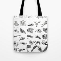 Animal Skull Alphabet Tote Bag
