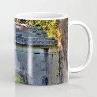 tomb raider Mugs featuring The Tomb by Anthony M. Davis