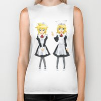 vocaloid Biker Tanks featuring Kagamine Twins by Amber Steel