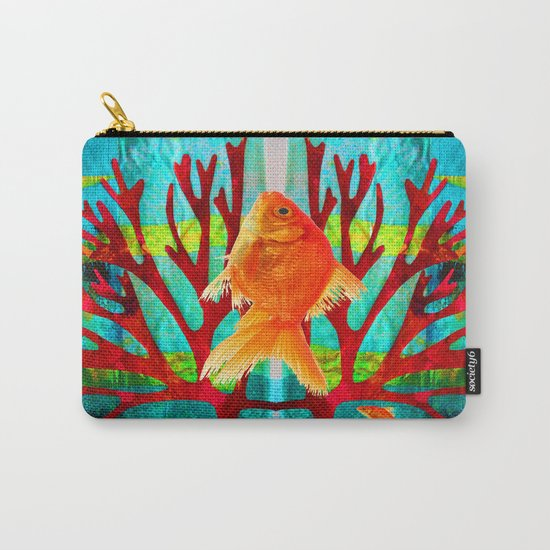 Golden Fish Carry-All Pouch