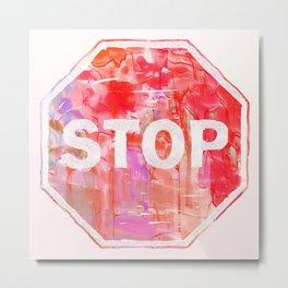 Stop Aesthetic Metal Print