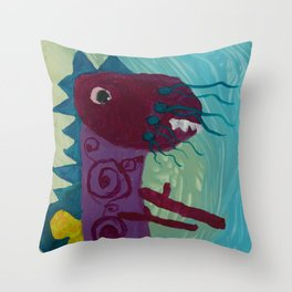 Dragon : Funny creature Series Throw Pillow