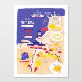 Miyajima map Canvas Print