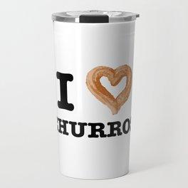 Funny Food I Love Churros Pastry Lover Travel Mug