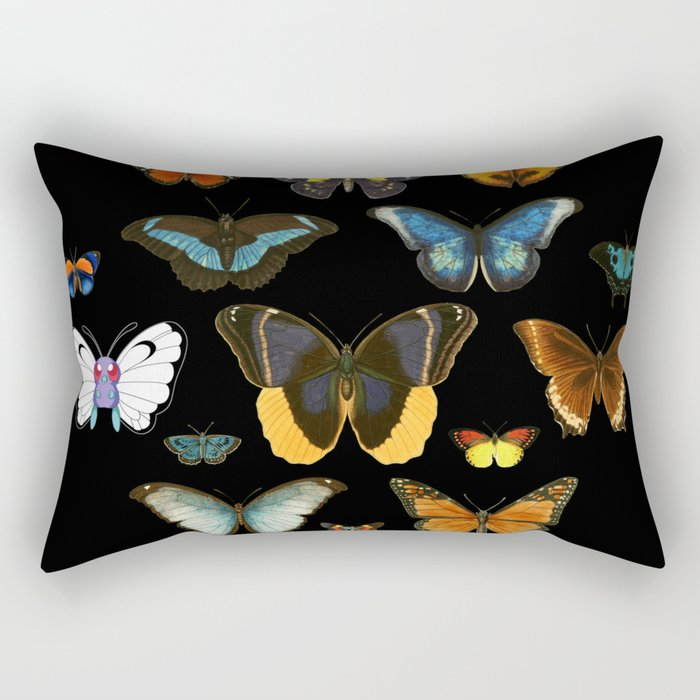 Entomology (Black) Rectangular Pillow