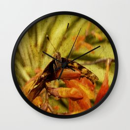 Butterfly on Crosmosia Wall Clock