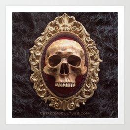 Catacomb Culture - Vintage Human Skull Art Print