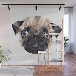 Pug Diamonds Wall Mural