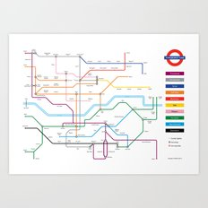 Type Tube Art Print