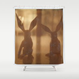 Rabbit Rabbit Shower Curtain