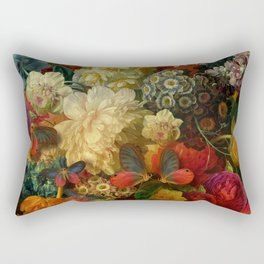 """Baroque Spring of Flowers and Butterflies"" Rectangular Pillow"