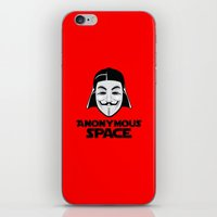 anonymous iPhone & iPod Skins featuring Anonymous by Tony Vazquez
