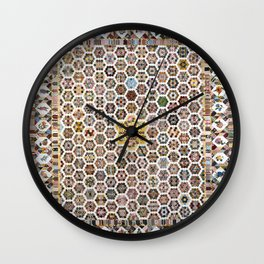Floral Fabric Vintage Gift Pattern #20 Wall Clock