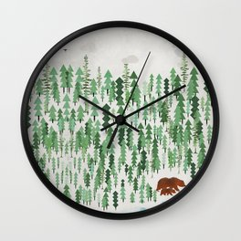 the green forest Wall Clock