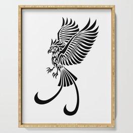 phoenix rising Serving Tray