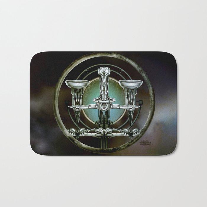 """""""Astrological Mechanism - Libra"""" Bath Mat"""