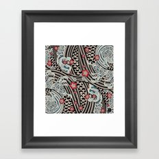 Waves of tradition Framed Art Print