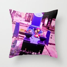 The most sinister cemetery grave. Throw Pillow