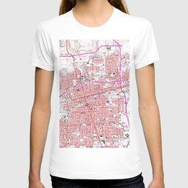 Vintage Map of Reno Nevada (1967) T-shirt