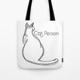 Cat person 1 Tote Bag
