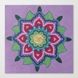 Rose Mandala 2 by Soozie Wray Canvas Print
