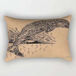 rubbish whale coffee ink Rectangular Pillow