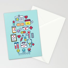 Proud To Be a Nurse Pattern / Blue Stationery Cards