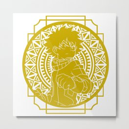 Stained Glass - My Hero Academia - Izuku Midoriya Metal Print