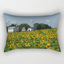 Sunflower Farm  - Pope Farm Conservancy, Wisconsin Rectangular Pillow