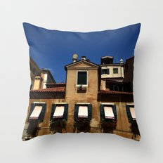 Venetian facade Throw Pillow