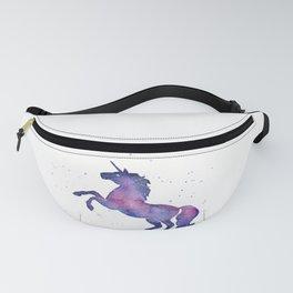 Galaxy Unicorn Watercolor Fanny Pack