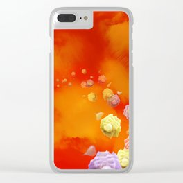 Sunset Roses Clear iPhone Case
