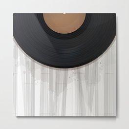 Vinyl record design Metal Print
