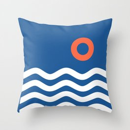 Nautical 03 Seascape Throw Pillow