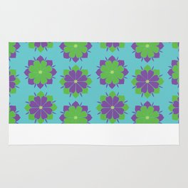 Purple + Green Power Flower Rug