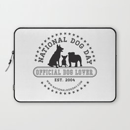 Official Dog Lover; National Dog Day  Laptop Sleeve