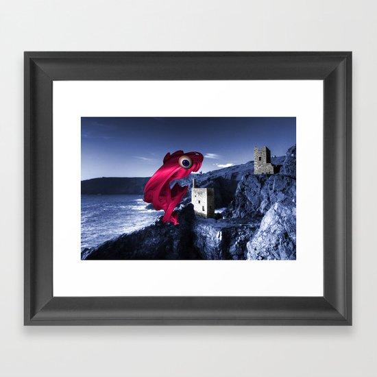 The Mine Swallower  Framed Art Print