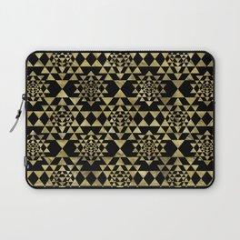 Sri Yantra  / Sri Chakra Pattern - Gold on black Laptop Sleeve