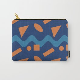 Orange Geometry On A Blue Wave  Carry-All Pouch