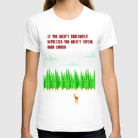 depression T-shirts featuring A Constant State of Depression by ThatLittleDemon
