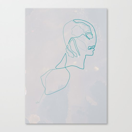 One Line Abe Sapien Canvas Print
