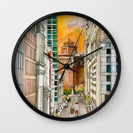 San Francisco at Dusk Wall Clock